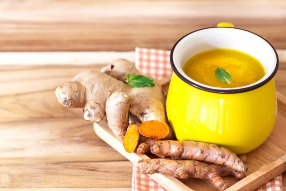 Cup of Turmeric Tea with lemon and ginger for some liver detox. (pinkomelet/shutterstock)