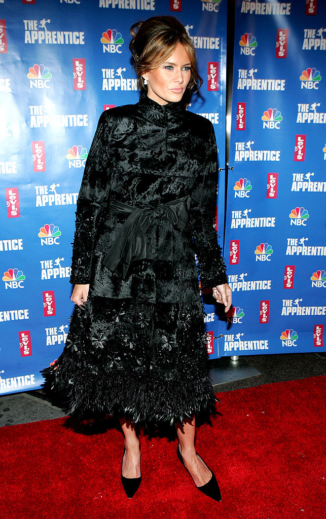 """Melania Trump attends the after party for the final episode of """"The Apprentice 2"""" at the Roseland Ballroom in New York City on Dec. 16, 2004. (Paul Hawthorne/Getty Images)"""