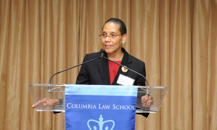 Judge Sheila Abdus-Salaam, associate judge of the Court of Appeals speaks in this undated photo. (Courtesy of Columbia Law School/Handout via REUTERS)