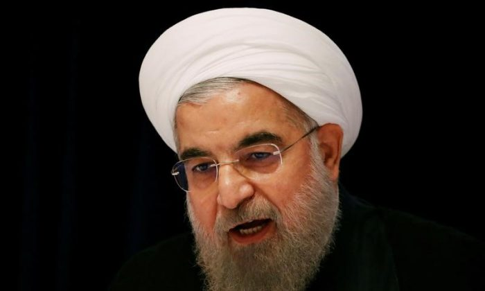 Iranian President Hassan Rouhani at a news conference near the United Nations General Assembly in the Manhattan borough of New York on Sep. 22, 2016. (REUTERS/Lucas Jackson)