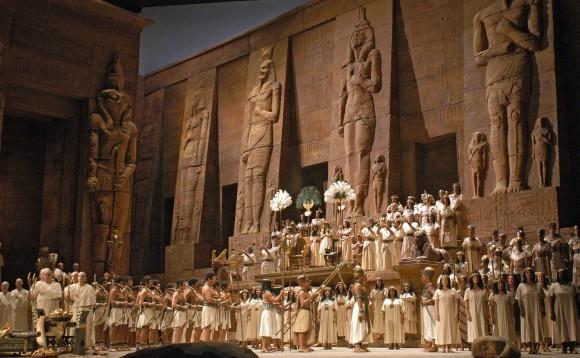 "A scene from Act 2 of Verdi's ""Aida."" (Marty Sohl/Metropolitan Opera)"