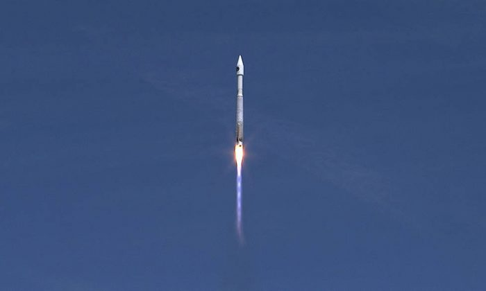 A United Launch Alliance Atlas V rocket lifts off carrying the Orbital ATK Cygnus pressurized cargo module from Cape Canaveral Air Force Station, Florida, United States on April 18, 2017. (NASA/Handout via REUTERSTHIS)
