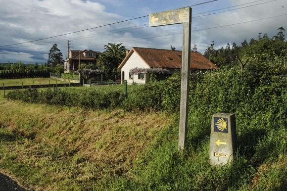 The St. James Way pilgrimage route near Santiago de Compostela. (Carole Jobin)