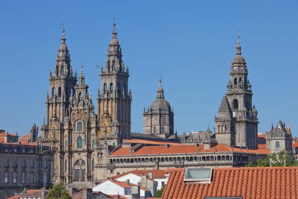 The main Cathedral in Santiago de Compostela, the capital of northwest Spain's Galicia region. (Luis Miguel Bugallo Sánchez/Wikimedia Commons)