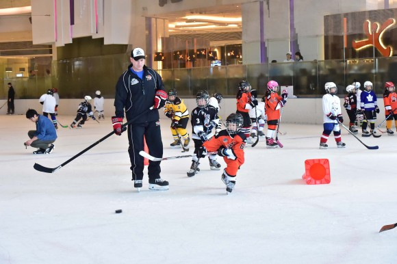 Junior Tigers perform routines at the 2017 Junir Tigers Easter Camp, under the watchful eye of head instructor Brad Smyth. (Eddie So)