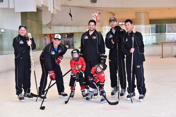 Brad Smyth with fellow instructors at the Junior Tigers Hong Kong Easter Camp 2017. (Eddie So)