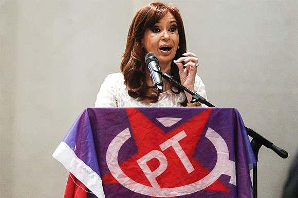 Former Argentine President Cristina Kirchner  in São Paulo on Dec. 9, 2016. She left the country with high inflation and high government deficits. (MIGUEL SCHINCARIOL/AFP/Getty Images)