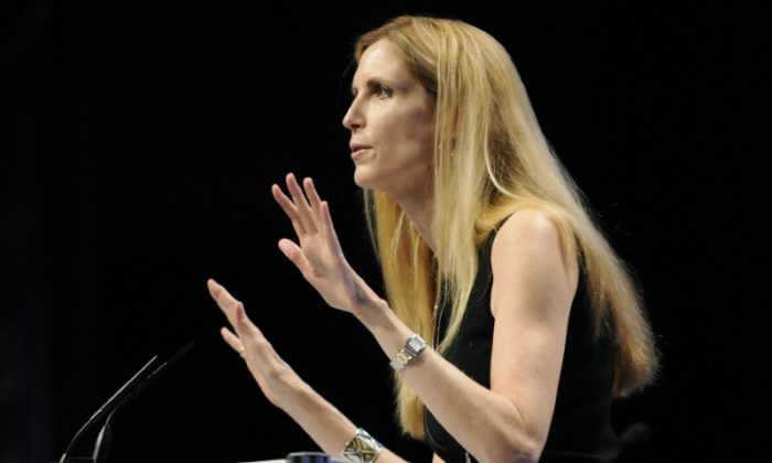 Commentator Ann Coulter speaks to the Conservative Political Action conference (CPAC) in Washington, Feb. 12, 2011. (REUTERS/Jonathan Ernst)