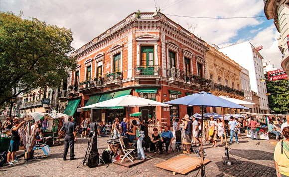 A street market on the Plaza Dorrego in Buenos Aires, Argentina, in this file photo. Argentina has a lot to offer, but the citizens and the government have to work hard to realize its full potential. (Manvmedia/Shutterstock)