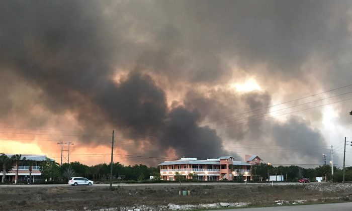 Brush fires in Collier County, Fla., on April 21, 2017. (Plantation Fire Department Fire Station No. 96)