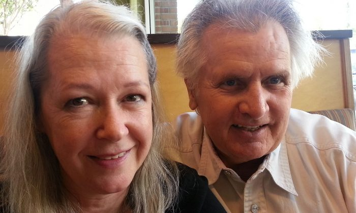 """Joe Estevez (R) and his wife Constance. Estevez has managed to have a busy career in Hollywood without the negative consequences of fame. """"I'm the luckiest person in the world to be doing what I love to do,"""" said Estevez. (Tim Wahl)"""