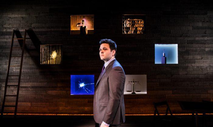 """Derek DelGaudio in """"In and of Itself.""""  (Matthew Murphy)"""