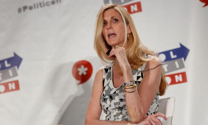 "Political commentator Ann Coulter speaks during the ""Politicon"" convention in Pasadena, Calif., on June 25, 2016. (REUTERS/Patrick T. Fallon)"