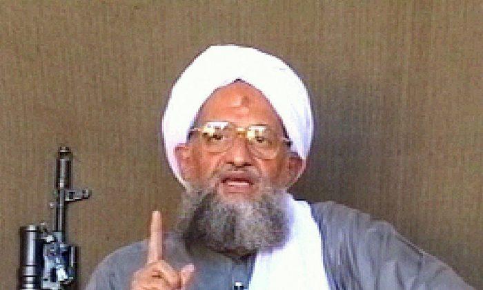 Al-Qaeda leader Ayman al-Zawahiri giving a speech at undisclosed location.  (AFP/Getty Images)