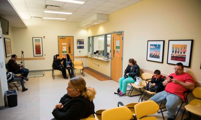 Patients wait in the waiting room at the Esperanza Health Center in Philadelphia, Pa., on March 13, 2017. (DOMINICK REUTER/AFP/Getty Images)