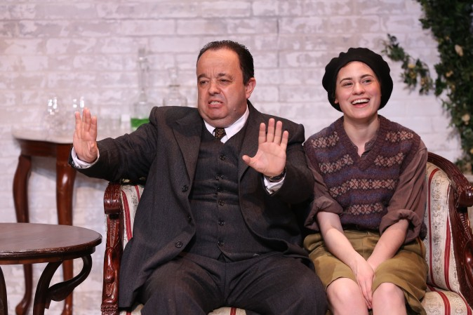 (L–R) Hugh Sachs and Emily Laing in J.B. Priestley's