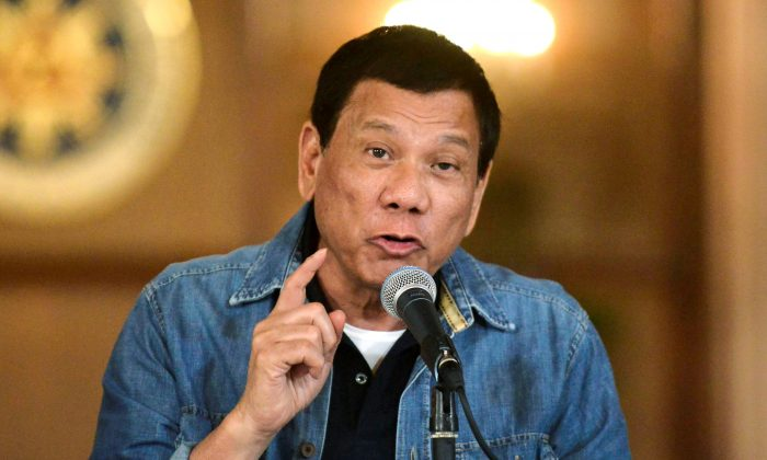 Philippine President Rodrigo Duterte at the Malacanang palace in Manila. Duterte has positioned the Philippines closer to China but needs the United States for security. (REUTERS/Ezra Acayan)