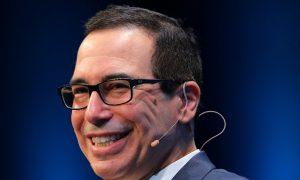 Mnuchin Sees US Growth Reaching 3 Percent in Time, Tax Cuts to Help