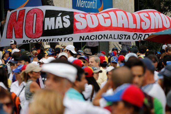 Demonstrators in Venezuela