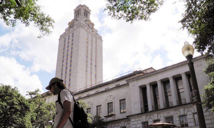 A student walks at the University of Texas campus in Austin, Texas, on June 23, 2016. (Jon Herskovitz/Reuters)