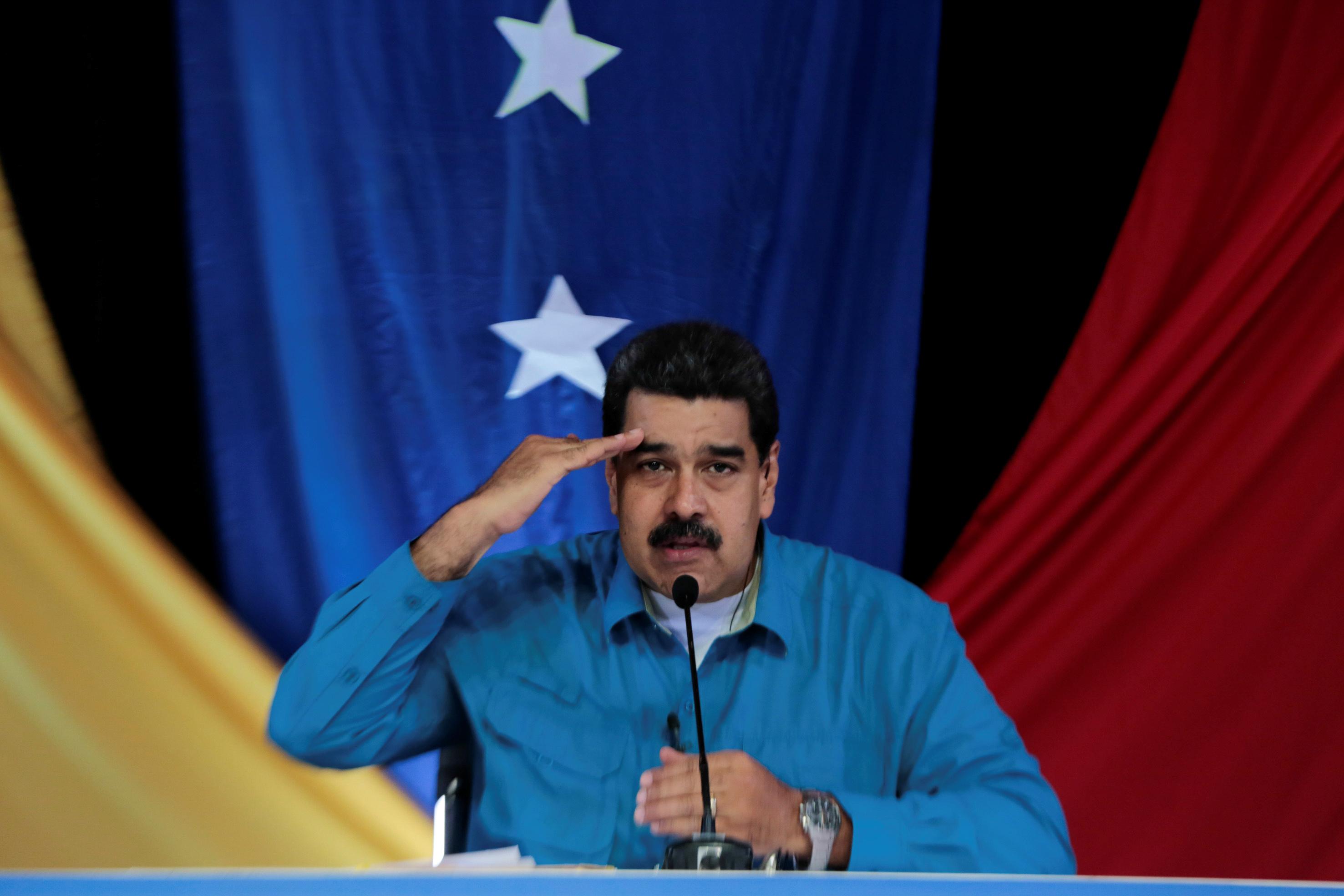 "Venezuela's President Nicolas Maduro during his weekly broadcast ""Los Domingos con Maduro"" (The Sundays with Maduro) in Caracas, Venezuela. (Miraflores Palace/via REUTERS)"