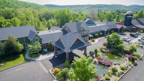 Aerial view of the Emerson Resort & Spa in Mt. Tremper. (Courtesy Emerson Resort & Spa)