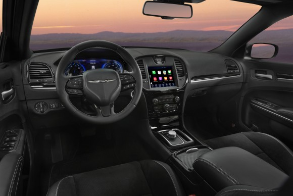 The interior of the 2017 Chrysler 300S. (Courtesy of FCA)