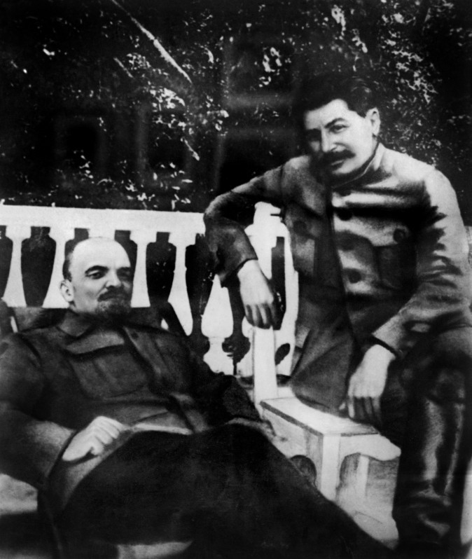 Soviet leaders Vladimir Lenin and Joseph Stalin in 1922. Between them are the unnatural deaths of some 30 million people. (AFP/Getty Images)