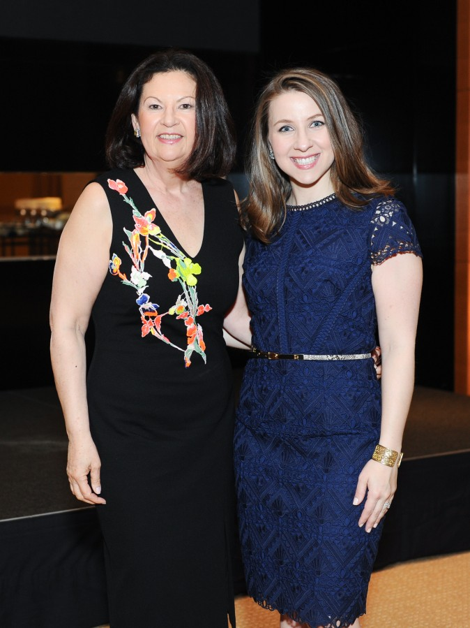 Ellie Johnson and Katharine Riggle at the celebration of the opening of Berkshire Hathaway HomeServices New York Properties hosted at the Four Seasons Hotel New York on April 26, 2017. (Courtesy of Rommel Demano for BFA)