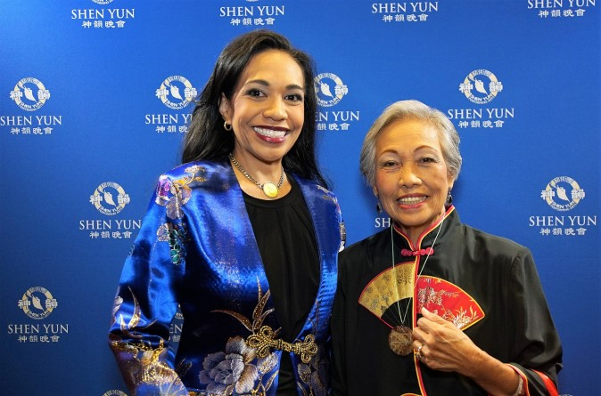 "Katrina Lim and her mother, Gloria Lim, both thoroughly enjoyed watching Shen Yun Performing Arts at the Orpheum Theatre on March 19, 2017. ""You must see it. You feel the heritage. You feel the people. You feel the culture,"" Ms. Lim said. (David Zheng/NTD Television)"