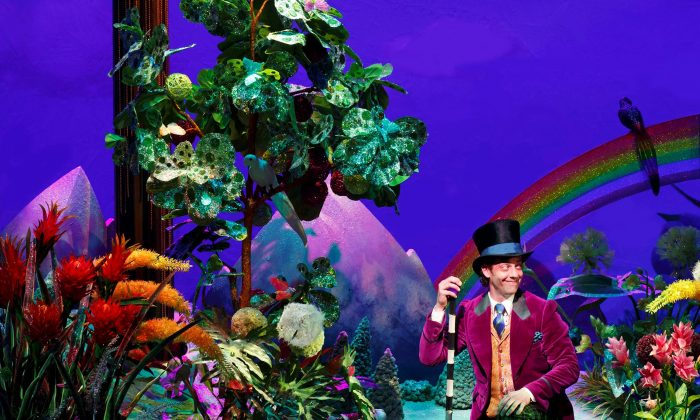 The opening number with Christian Borle as Willie Wonka is a highlight of the new musical 'Charlie and the Chocolate Factory.' (Joan Marcus)