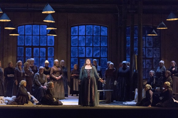 Amber Wagner as Senta in Wagner's Der Fliegende Holländer. (Richard Termine/Metropolitan Opera)