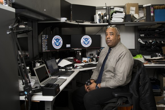 Military veteran Kevin Tillman, a rescue operative in the child exploitation and human trafficking unit for ICE Homeland Security Investigations in New York on April 26, 2017. (Samira Bouaou/The Epoch Times)