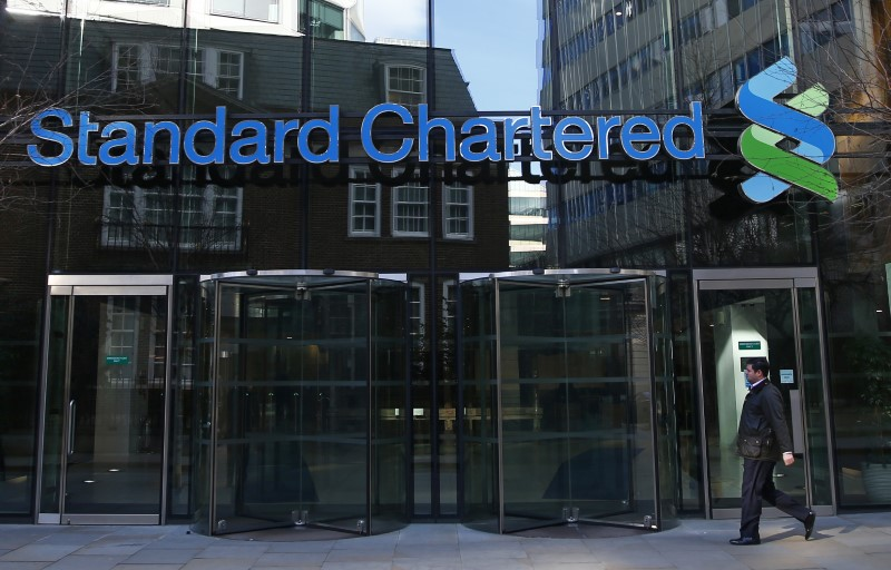 The head office of Standard Chartered bank in the City of London on Feb. 27, 2015. (REUTERS/Eddie Keogh)