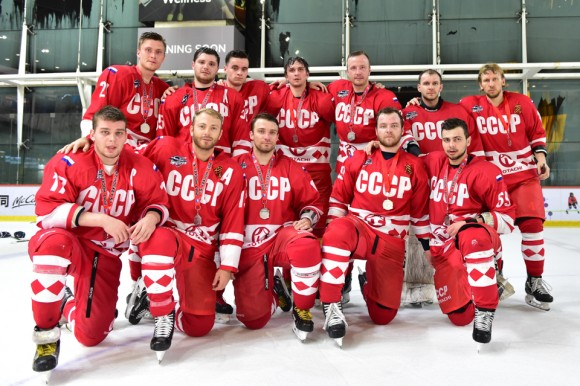 Totachi CCCP team that performed so well in the International Elite division of the Mega Ice 2017 Hockey 5's. (Bill Cox/Epoch Times)