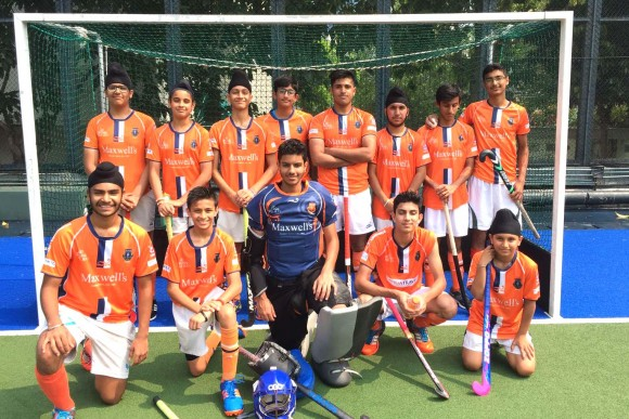 Khalsa U16 youth hockey team were crowned HKHA youth cup champions by beating Antlers 3--0 in the final at King's Park on Sunday May 7, 2017. (Khalsa Hockey).