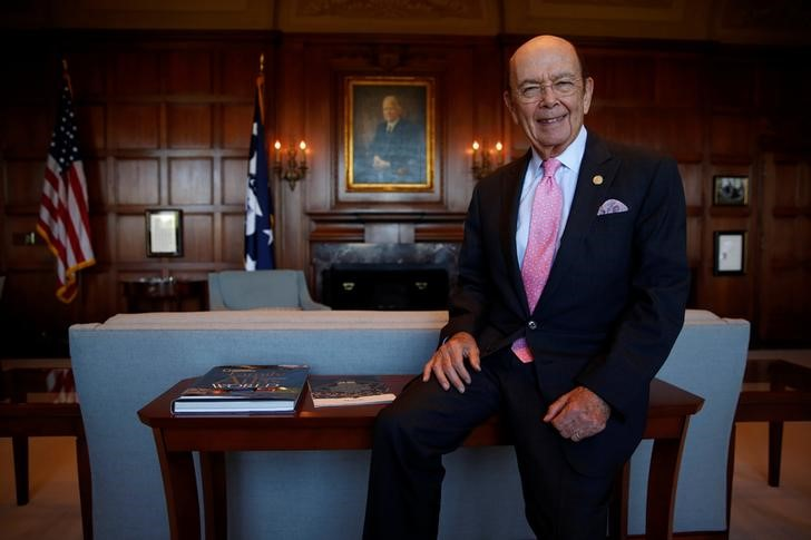 Commerce Secretary Wilbur Ross sits for a portrait after an interview in his office in Washington on May 9, 2017. (REUTERS/Jonathan Ernst)