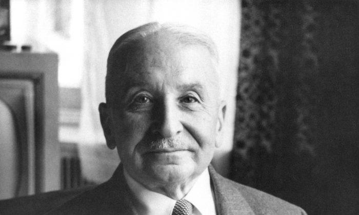 Austrian school economist Ludwig von Mises (1881–1973). (Ludwig von Mises Institute/[CC BY-SA 3.0 (ept.ms/2Bw5evC)])