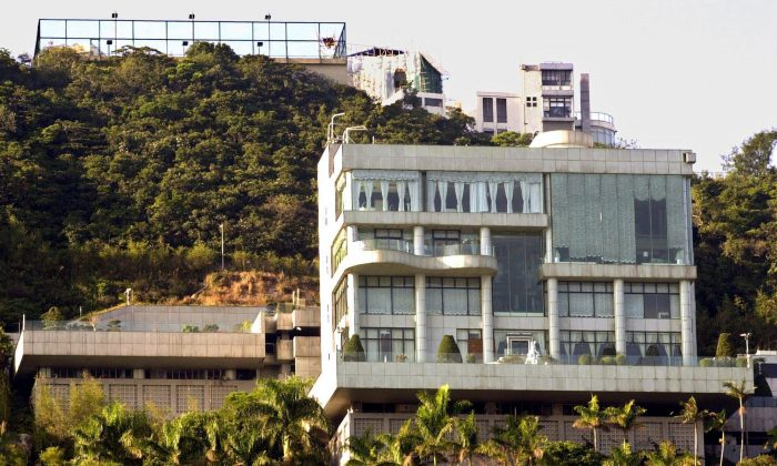 Genesis, a palatial residence and once one of the world's priciest properties, on Hong Kong's prestigious Victoria Peak. (AP Photo/Anat Givon)