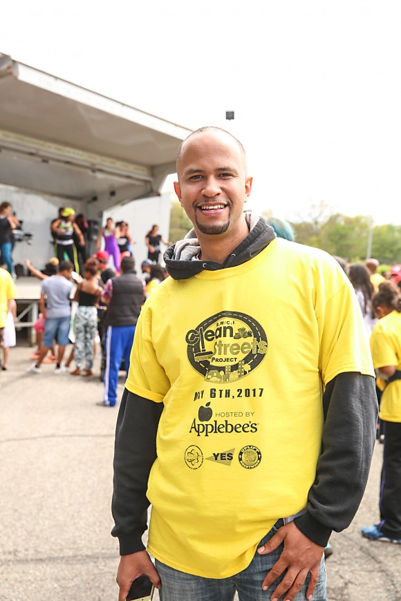 Marcos Maldonado, co-founder of the Clean Streets Committee, said the turnout was incredible. (Laura Cooksey for The Epoch Times)