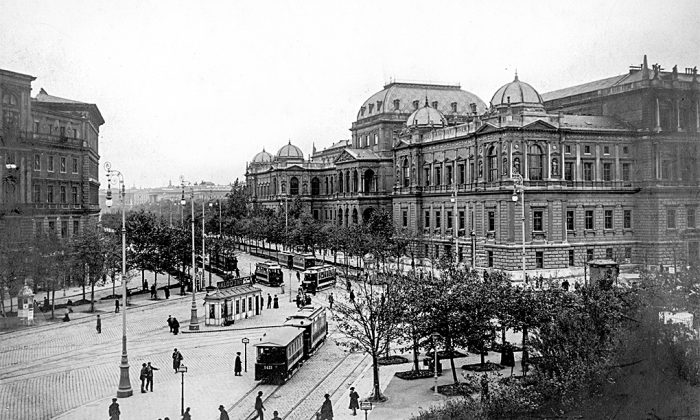 The University of Vienna in the early 1900s. Founded in the late 19th century, the Austrian school of economics developed the ideas of classic liberalism into a coherent economic philosophy. Many of its scholars started out at the University of Vienna.