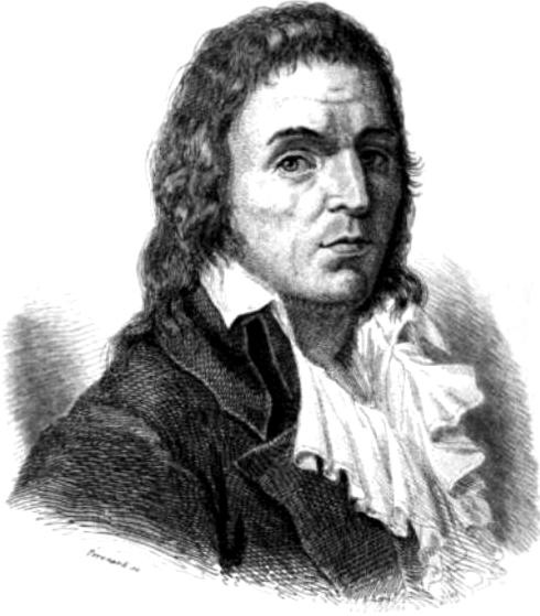 François-Noël Babeuf (1760–1797), regarded as the first revolutionary communist, is shown in an 1846 portrait. (Léonard Gallois, Histoire des journaux et des journalistes de la révolution française, Paris, Bureau de la Société de l'industrie fraternelle)