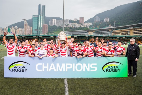Japan crowned Asia Rugby Champions 2017, in Hong Kong on May 13, 2017, after winning home and away matches against Hong Kong and South Korea in this years Championship. (Dan Marchant)