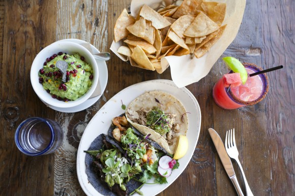 Ola Mexican Kitchen, located in Pacific City, in Huntington Beach, offers Mexican fare as well as views overlooking the beach and ocean. (Channaly Philipp/The Epoch Times)