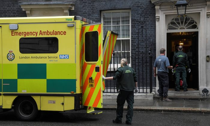A stock photo of an ambulance. (Toby Melville/Reuters)