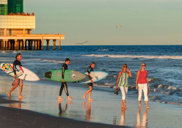 Another popular activity in Atlantic City is surfing. (Casino Reinvestment Development Authority)