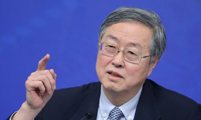 Zhou Xiaochuan, governor of the People's Bank of China, in Beijing on March 12, 2015. (Feng Li/Getty Images)