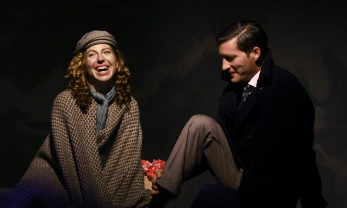 "Tanna Frederick and Mike Falkow in ""Train to Zakopane."" (Tristan Baur)"