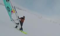 The Man Who Windsurfs on Snow