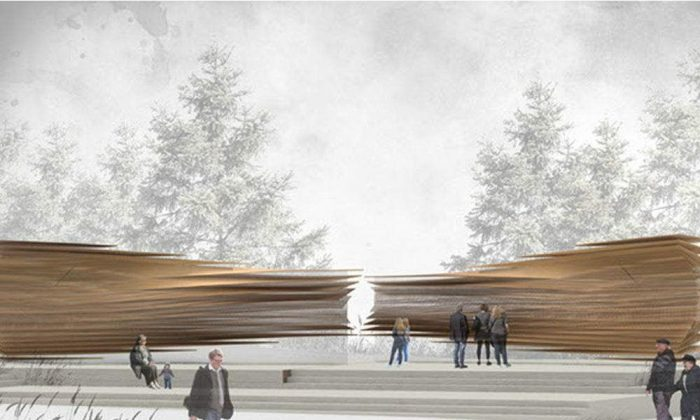 Arc of Memory, the winning design for the monument to victims of communism to be built in Ottawa. (Courtesy of Paul Raff)